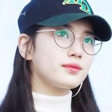 ad372b42f7b7 2018 retro for women men eyeglasses frame luxury brand design full metal round  eye glasses frame korean nerd clear light glasses