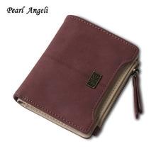 Фотография Mini Wallet Female Brand Fashion Leather Women Wallets Coin Card Holder Short Purse Small Clutch Zipper Hasp Ladies