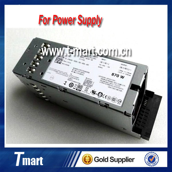 ФОТО 100% Working Desktop For DELL R710 T610 A870P-00 Server Power Supply Full Test