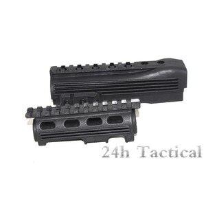 Guardamanos táctico superior e inferior con rieles Picatinny AK 47 104 polímero Strikeforce Serie AK guardamanos