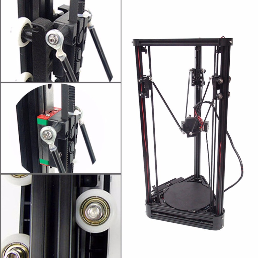 3D Printer Pulley Version Linear Guide DIY Kit Kossel Delta Auto Leveling Large Printing Size 3D Metal Printer With 2G SD card free dhl shipping 3d printer linear guide diy kit large printing speed 20 180mm s 3d metal printer support auto leveling