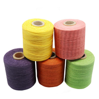 1pc 210D Flat Wax Thread Polyester Hand Sewing Thread Strong and Durable Sewing Threads for Leather Bags,seat Cushion