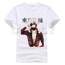 2019 new T-shirt Round neck  Tokyo Ghoul Leisure Japan Anime Cartoon comics Summer dress men tee Funny t shirt custom made
