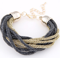 SPX6060 Fashion Charms Multi-layer Leather Chain Bracelet for Women wholesale Free Shipping