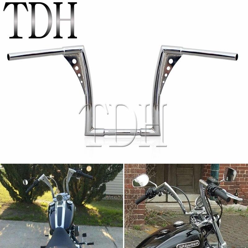 """16/"""" Rise Chrome APE Hanger Bars 1-1//4/"""" Harley Handlebars Touring Dyna Softail"""