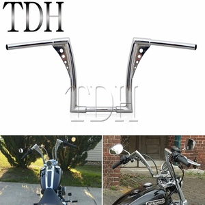 "Image 1 - Chrome Custom Motorcycle Handlebar Ape Hanger 1 1/4"" Fat Bar 12"" Rise 30 1/2"" Wide Drag Bars for Harley Sportster Touring Dyna"