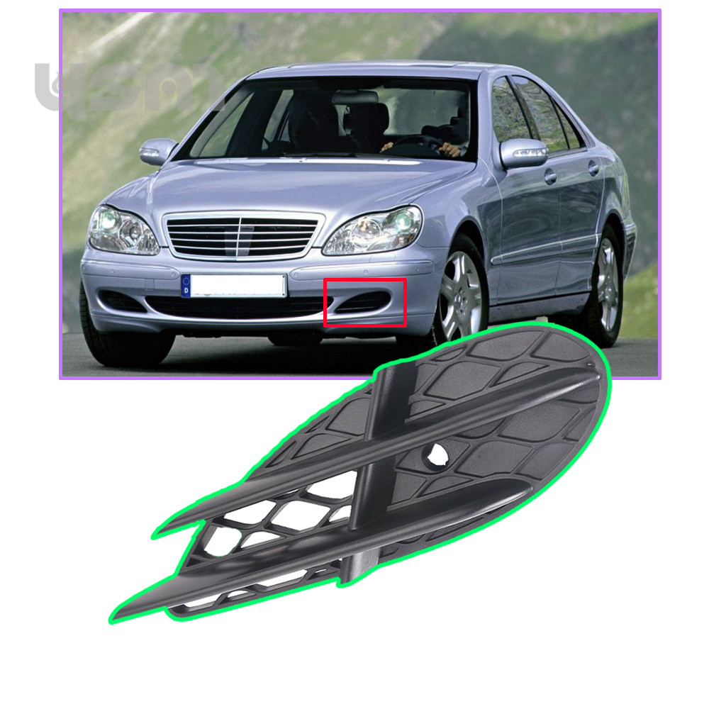NoEnName_Null Front Left side Bumper Grille for Mercedes W220 S430 S500 S600 2003-2006 2208851323 A 220 885 13 23