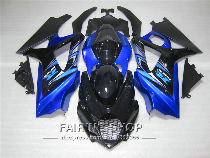 Injection mold 100% fit for Suzuki GSXR1000 K5 K6 2005 2006 blue black fairings set GSXR 1000 05 06 IK06 injection mold custom for 2005 suzuki gsxr 1000 fairings k5 2006 gsxr 1000 fairing 05 06 glossy dull red with black dw10