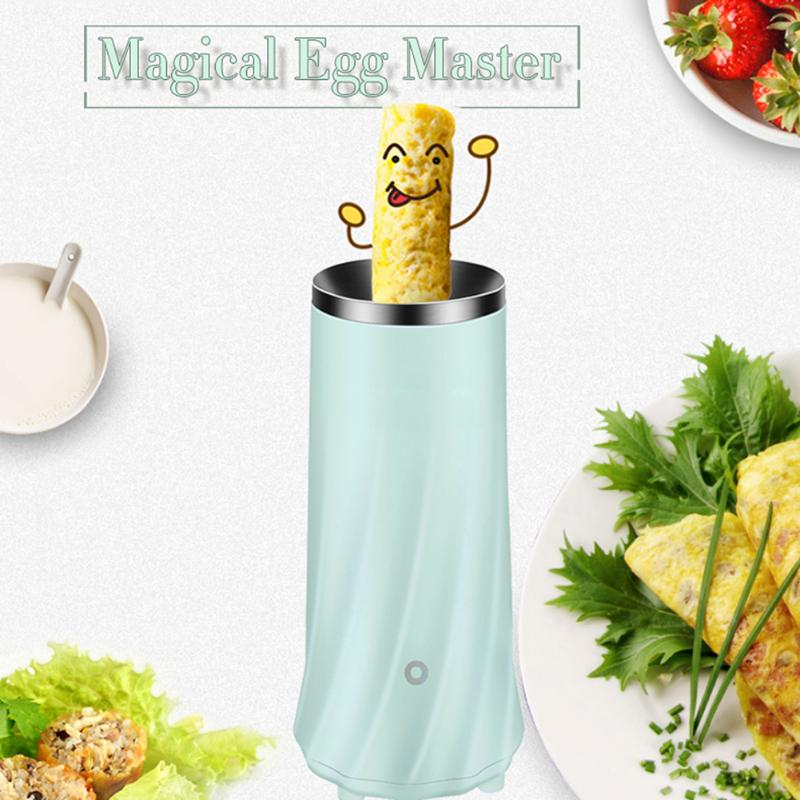 Electric Egg Roll Maker Omelette Mini Family Breakfast Kitchen Cooling Tool Egg Master boiled with EU plug Household Machine tonze electric mini multi egg boilers of 5 eggs 350w automatic power off household breakfast machine cute steam cooker