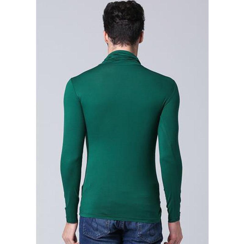 Herrmodell turtleneck långärmad T-shirt våren 2019 ny höststudent - Herrkläder - Foto 3