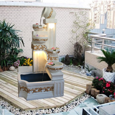European Household Creative Process Large Indoor Water Fountain Terrace Garden And Rockery Living
