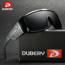 DUBERY Big Wide Leg Sunglasses Men Sports Protective Goggles Oversized Sun Glasses For Men Retro Frame Reflective Coating UV400