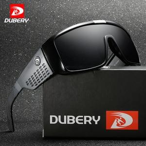 Image 1 - Мужские большие солнцезащитные очки DUBERY, спортивные защитные очки с широкой оправой, ретро очки с отражающим покрытием, UV400