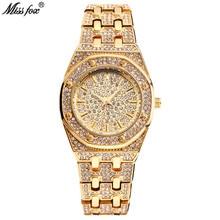 Montre Femme Miss Fox Women Watch Luxury Brand Fashion Waterproof Crystal Diamond Quartz Wristwatch Clock Gold Relogio Feminino цена и фото