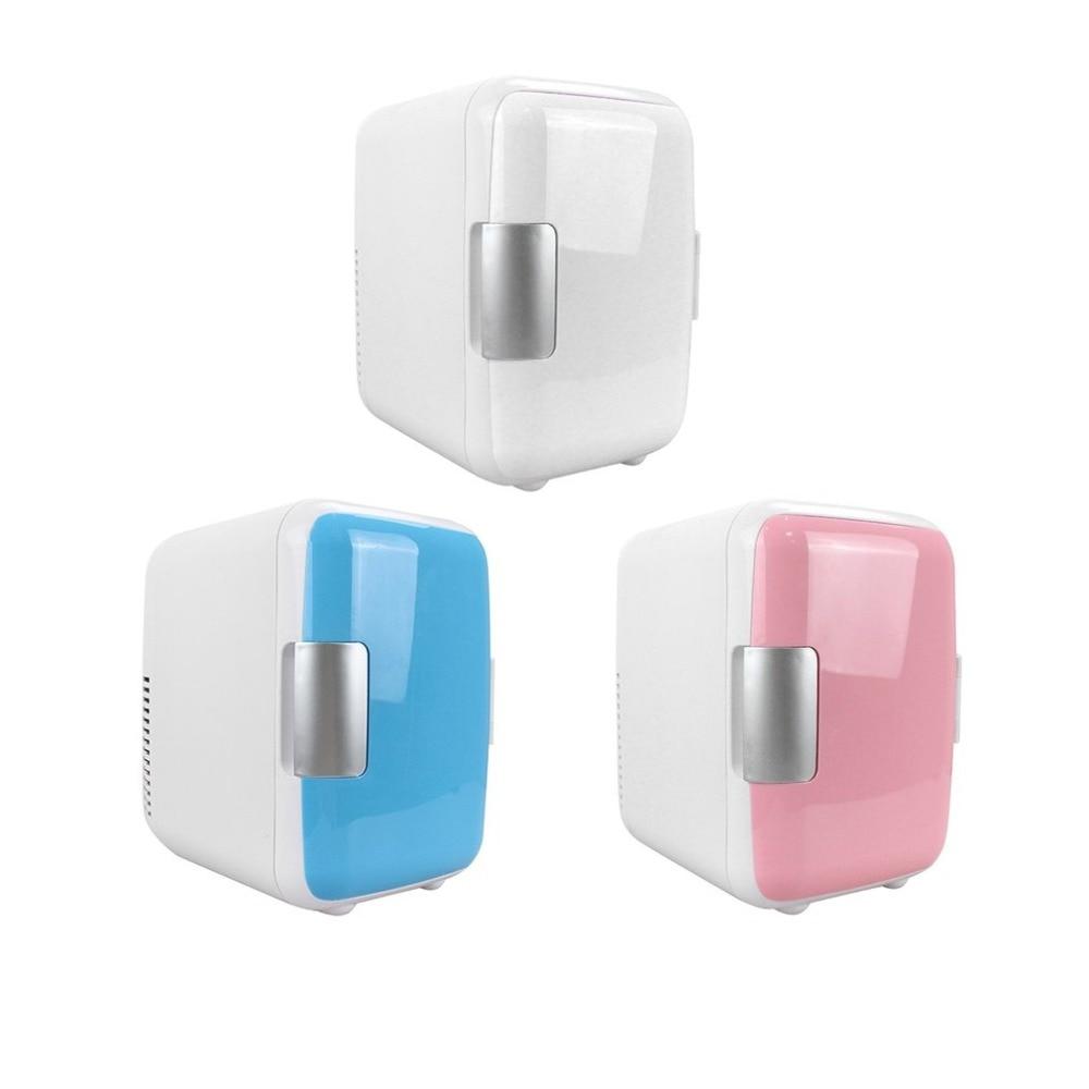 nízkošumové chladničky - Compact Size 4L Car Refrigerators Ultra Quiet Low Noise Car Mini Refrigerators Freezer Cooling Heating Box Fridge