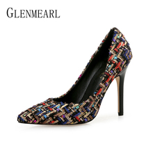 Woman Shoes High Heels Brand Women Pumps Spring Summer Party Shoes Pointed Toe Sexy Evening Shoes Female Plus Size New ArrivalDE 2016 new summer high heels shoes and bag set for evening party italian style woman pumps shoes and matching bag set bch 36