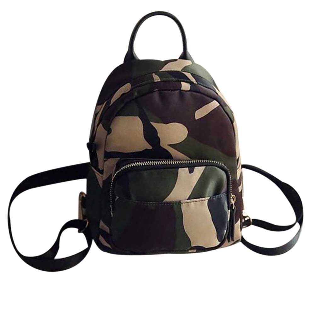 JHD Women Backpack Nylon Shoulder School Travel Bag Small Casual backpack(Camouflage)JHD Women Backpack Nylon Shoulder School Travel Bag Small Casual backpack(Camouflage)