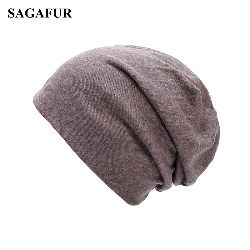 Soft Cotton Skullies Beanies Men Cap Women's Winter Hat Female Solid Color Outdoor Bonnet Slouchy Knitted Hat Plain Baggy Beanie