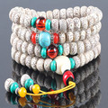 Ubeauty 108 lotus bodhi seed buddha japa rosary  beads bracelet  Tibetan Buddhist mala prayer beads meditation necklace