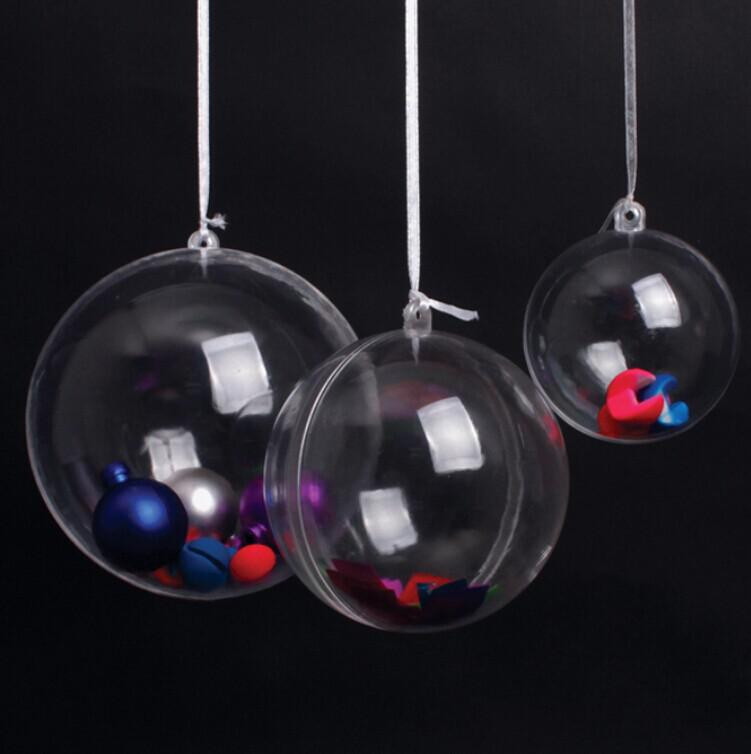 ab91ac530d298 6 cm se pueden abrir de plástico transparente bola de Navidad ...