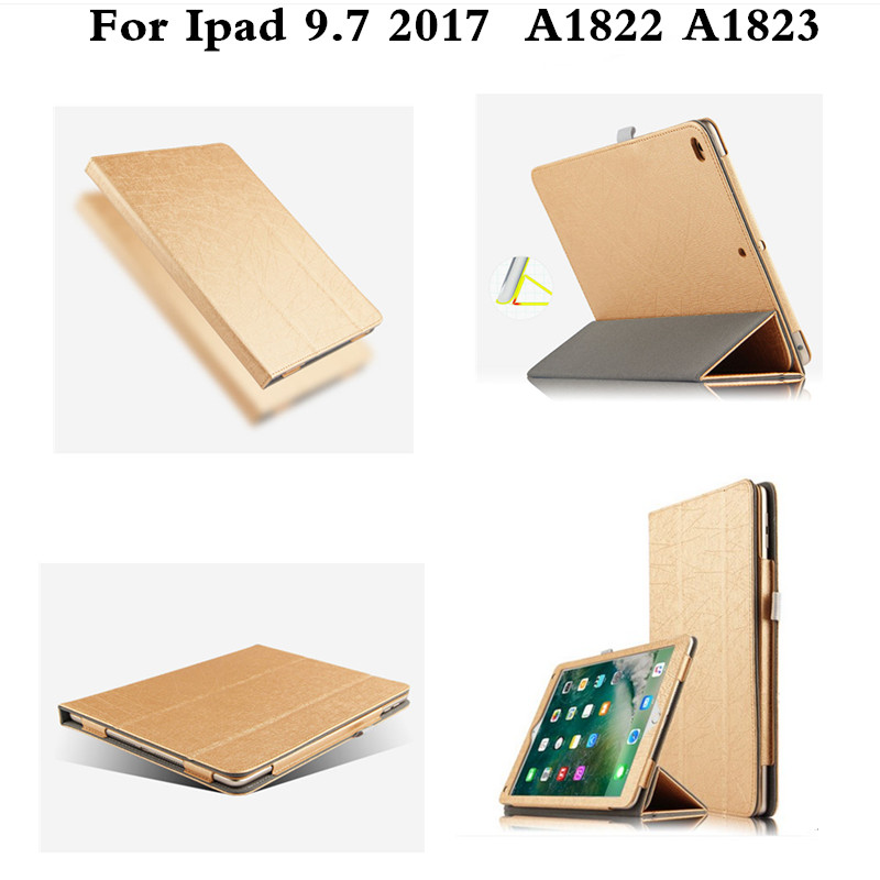 PU Leather Book flip Cover Case for New iPad 9.7 2017 Release A1822 A1823 Model Tablet Folio Stand Cases Luxury Black Gold pu leather book flip cover case for new ipad 9 7 2017 release a1822 a1823 model tablet folio stand cases luxury black gold