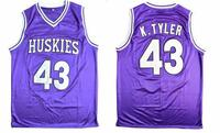 Cheap Basketball Jersey Sleeveless Throwback Marlon Wayans Kenny Tyler 43 Huskies The 6th Double Stitched
