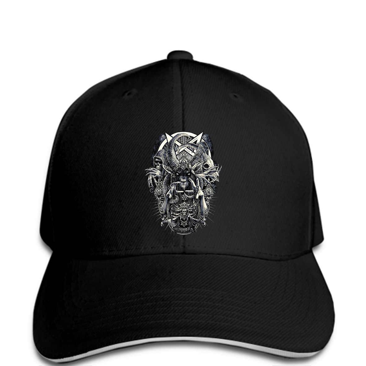 9feab8e0036b39 Men Baseball cap Cult Genuine Darkside Occult Nu Goth Satanic Gothic  Alternative Summber Black Tope For