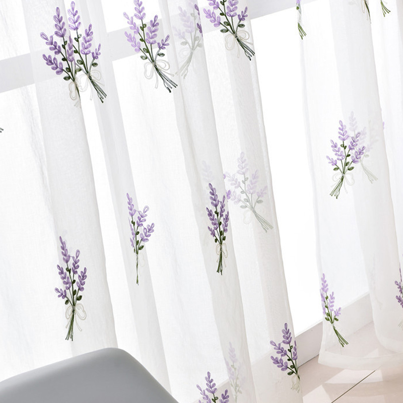Lavender Two Colors Embroidered Sheer Curtains White Cheap Curtains For  Living Room Bedroom Window Tulle Curtain For Curtain  In Curtains From Home  U0026 Garden ...