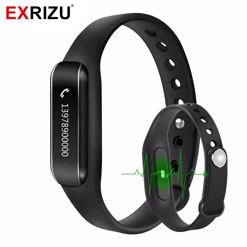 EXRIZU C6B Sport Bluetooth 4 0 Smart Wristband Band Heart Rate Monitor IP65 Waterproof OLED Smart
