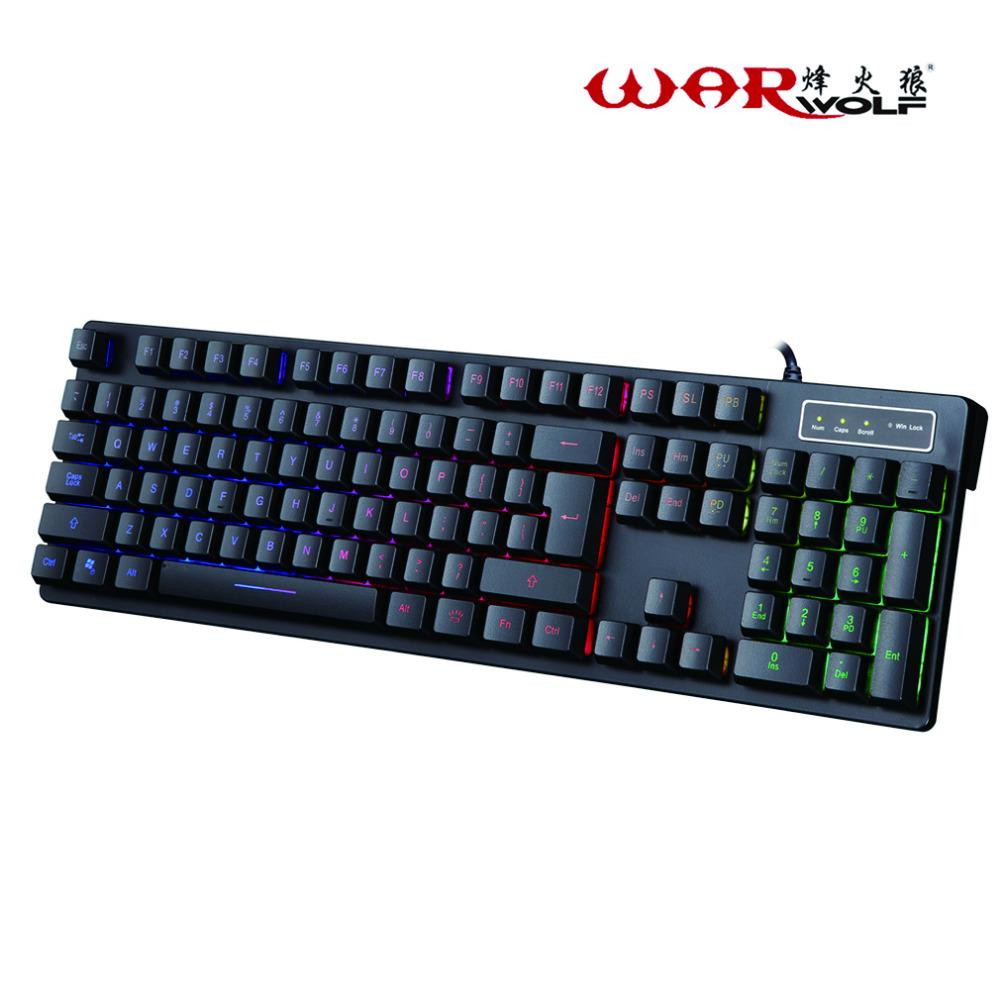Professional Wired Mechanical Keyboard 104 Keys Gaming For Computer Games With 3 Colors Change Backlight logitech g910 gaming keyboard mechanical keyboard cable machine professional programmable keyboard with backlight keyboard