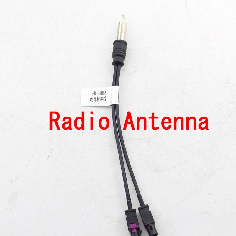 2017 Auto radio Antenne De Voiture DVD Radio Antenne Adaptateur Diversité Système Fakra pour VW pour AUDI pour MERCEDES pour BMW Radio Antenne