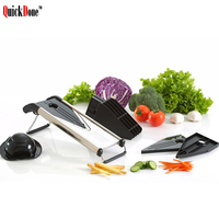 QuickDone Manual Mandoline Slicer With 5 Stainless Steel Blades Potato Carrot Onion Cutter Vegetable Grater Kitchen Tool AKC6170