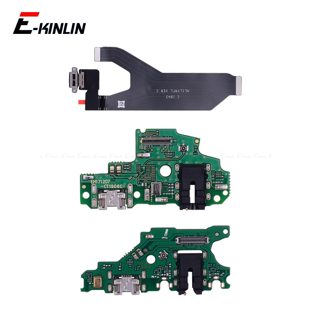 100% New Charger USB Dock Charging Dock Port Board Mic Microphone Flex Cable For HuaWei Mate 20 10 9 Pro Lite P Smart Plus 2019