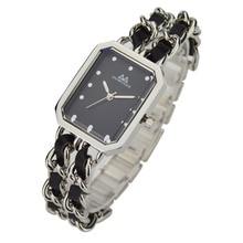 Relojes comprar directo de china de joyería de moda pulsera trenzada cuerda de cuero reloj de pulsera para damas
