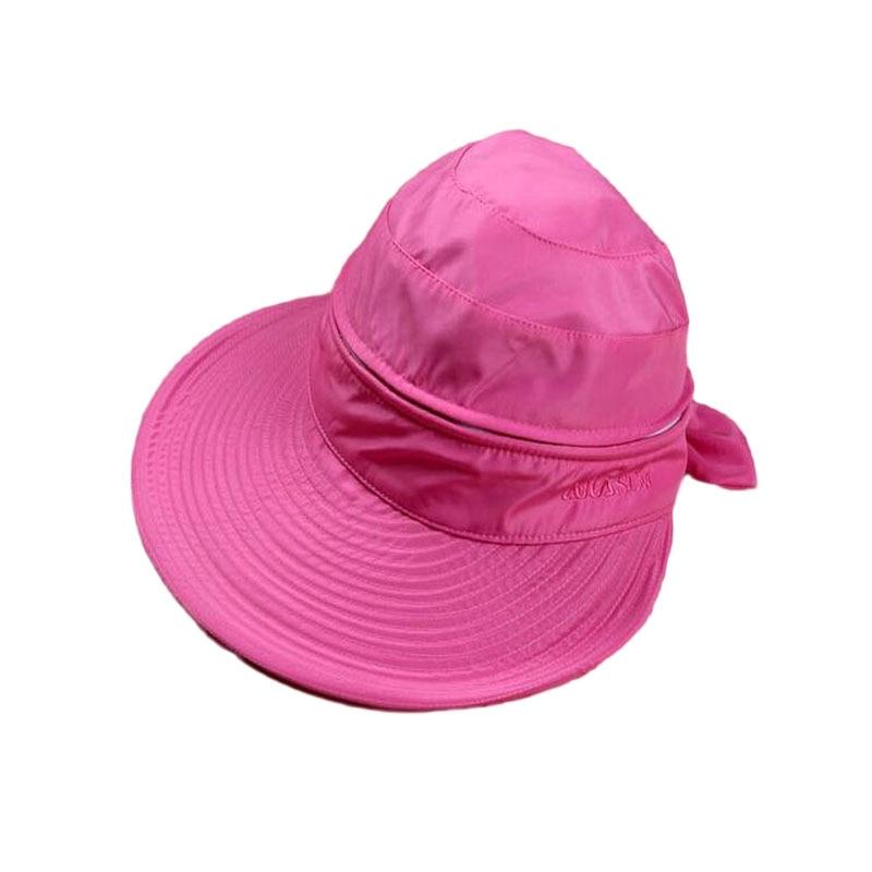 SUOGRY 2018 Fashion Summer Hats For Women Beach UV Protection Female Caps Women Sun Hat Girl Beach Visor Cap Chapeu Feminino in Women 39 s Sun Hats from Apparel Accessories