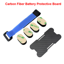цены Original 85mm Carbon Fiber Battery Protective Board Protector Battery Tie Down Strap Magic Bandage For RC Multicopter Frame