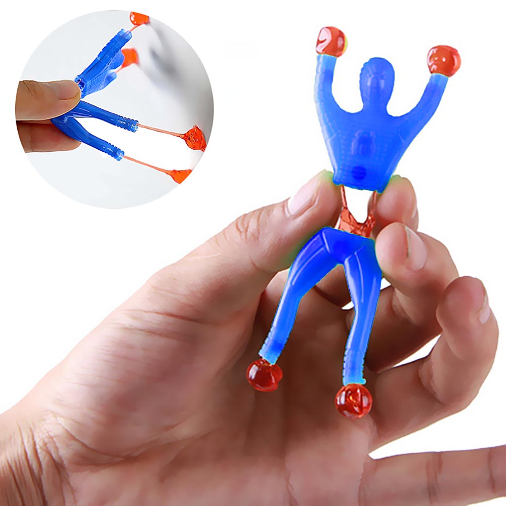 Funny Novelty Sticky Wall Climbing Flip Rolling Men Climber Children Kids Toy 5pcs/lots