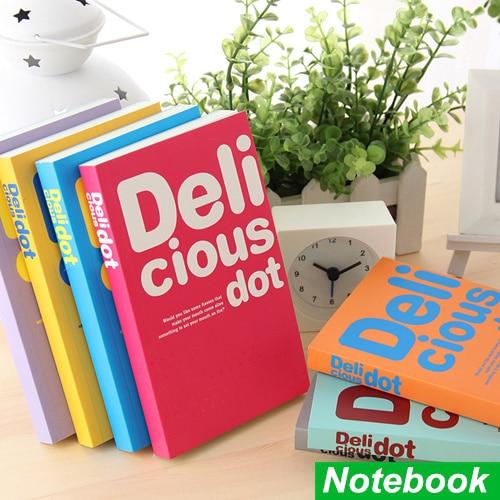 Delicious dot notebook Candy color soft copybook diary book Portable agenda stationery caderno escolar School supplies 6466
