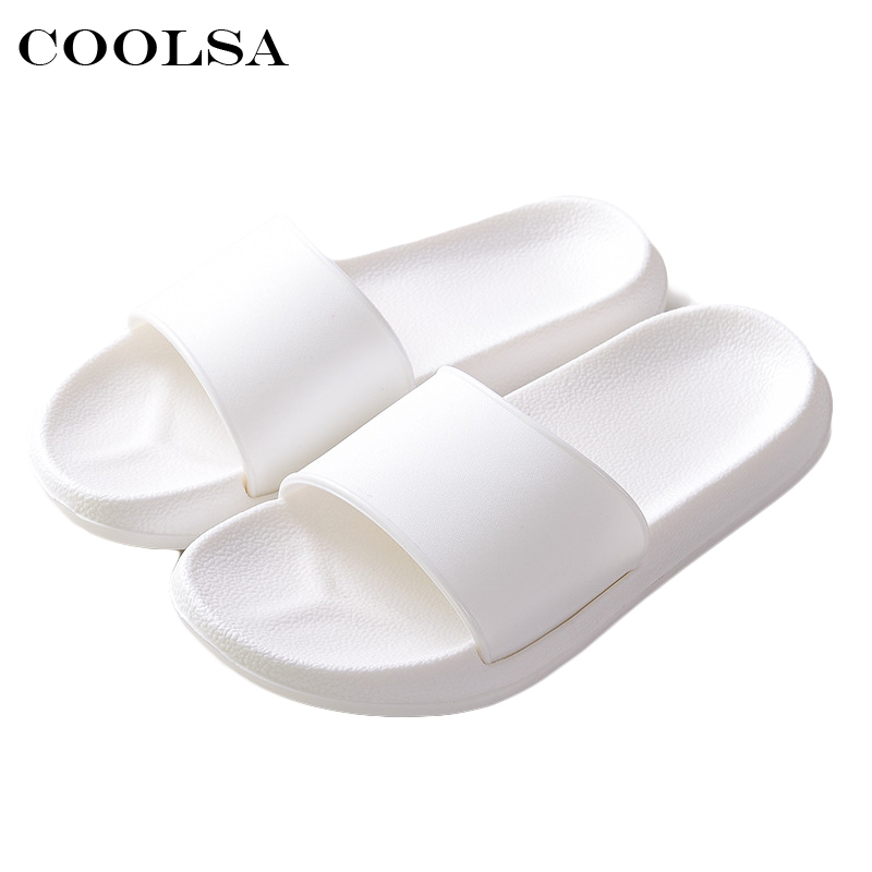 2018 Hot New Summer Women Flip Flops Black White Solid Slides EVA Flat Non-Slip Indoor Slippers Unisex Sandals Couple Beach Shoe summer couple slippers 2016 new tide male cork slippers couple slippers beach sandals women sandals page 6