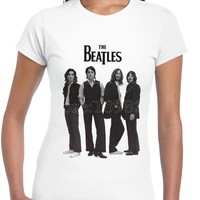 2017 Newest The Beatles 3D Print Women S 100 Cotton Tee Shirts High Quality Short Sleeve