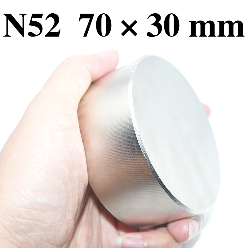 HYSAMTA Aimant 1 pcs/lot N52 Dia 70x30mm chaude aimant rond aimants puissants Rare Earth Néodyme Aimant 70*30mm