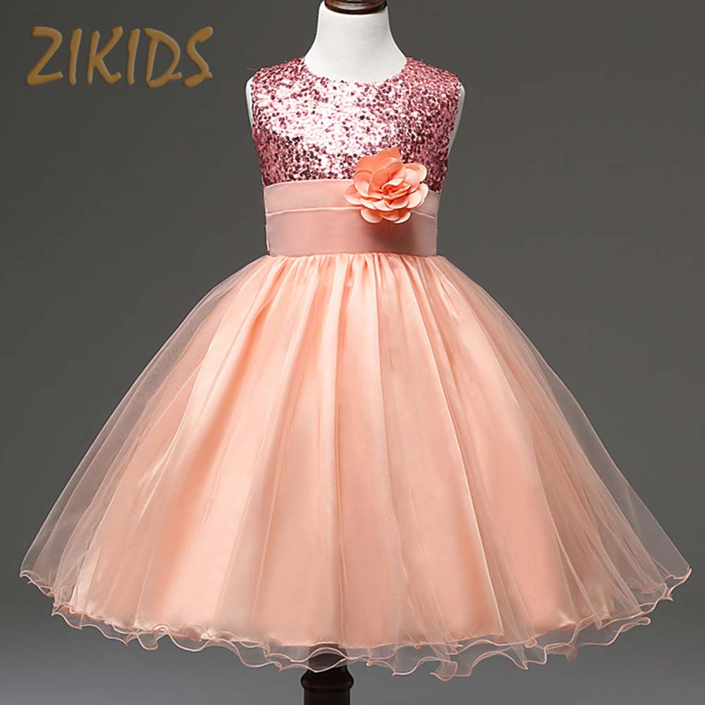 Подробнее о Flower Girl Dresses Princess Summer Party Dress Sleeveless Sequined Girls Clothing Children Brand Kids Clothes(3 Colors) girl dress 2016 spring summer daisy flower girls dresses for party and wedding kids clothes brand princess costume girl vestidos