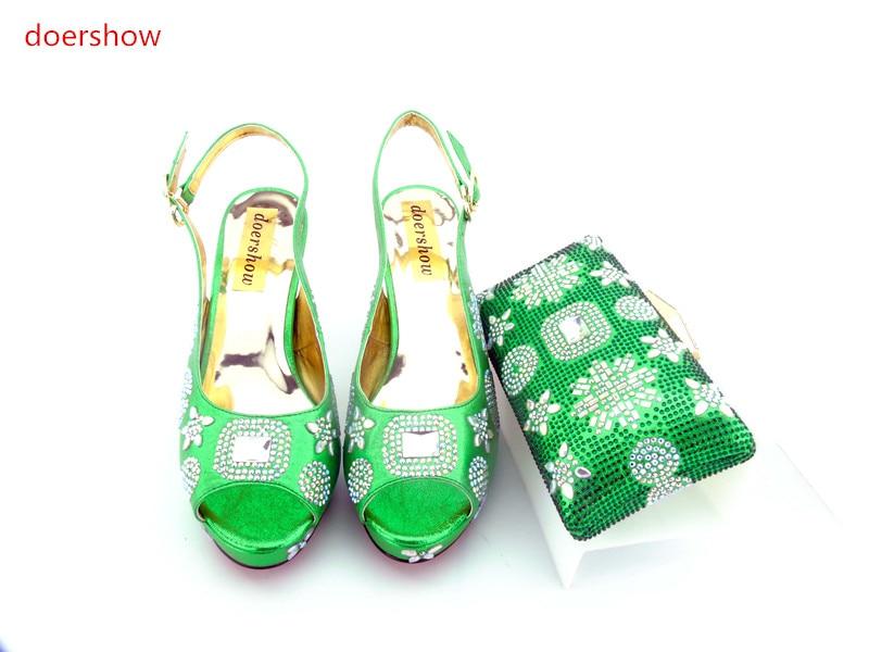 Фотография doershow Italian Matching Shoes and Bag Set High Quality African Wedding Shoes and Bag Sets Women Shoe and Bag To Match  HH1-1