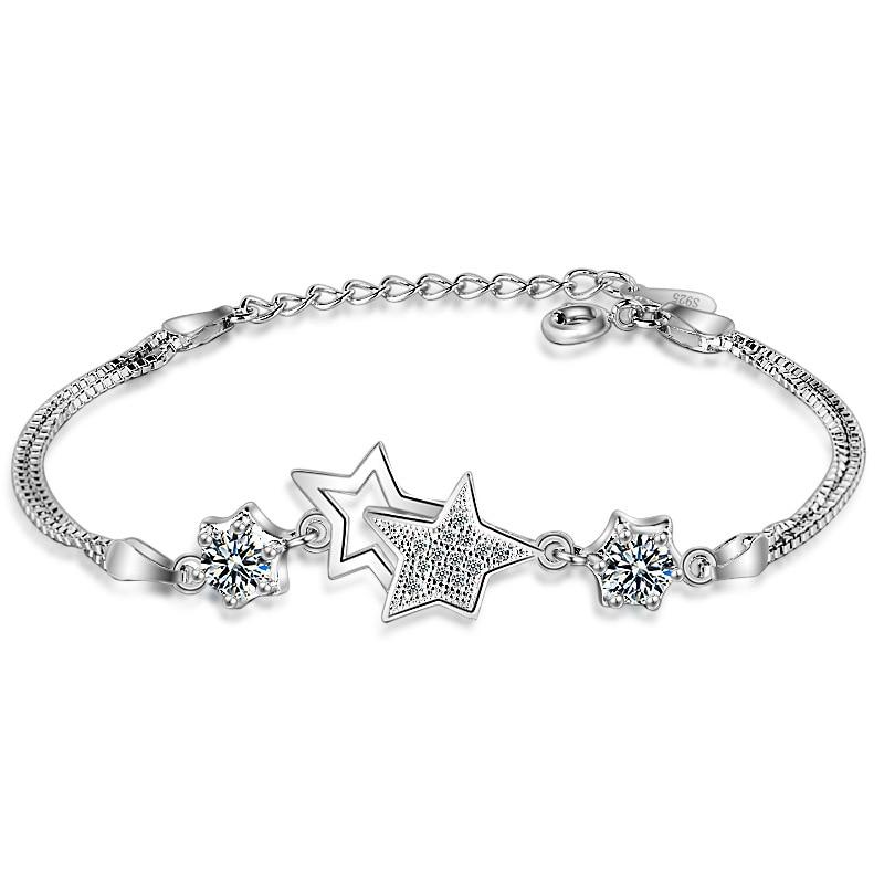 XIYANIKE New Simple Fashion Five-pointed Star Bracelets Bracelets Silver-color Adjustable Bracelet Bracelet For Women VBS4098
