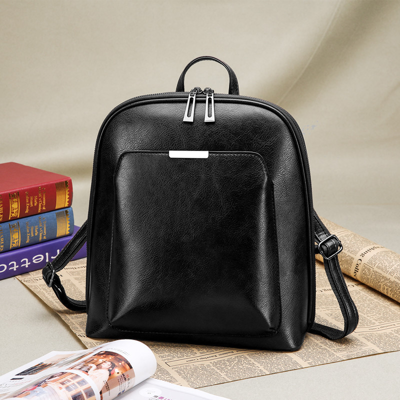 3-In-1 Vintage Women Backpack Youth Leather Backpacks For Teenage Girls Female School Shoulder Bag Bagpack Mochila