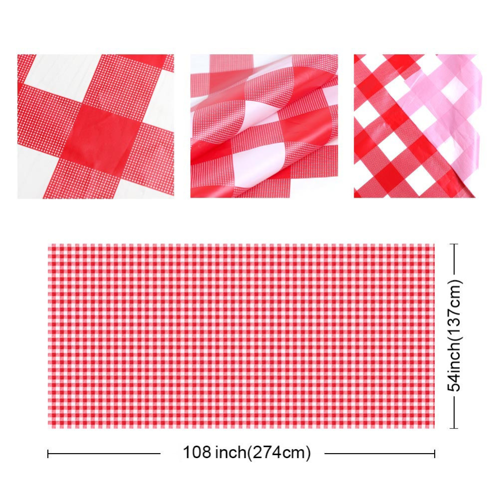 OurWarm 5pcs Red And White Checkered Tablecloth Plastic Table Cloth  Disposable Tableware Picnic Party Birthday Party Supplies In Disposable  Party Tableware ...
