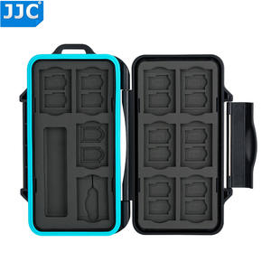 JJC Camera Memory Card Storage Water-Resistant Case for SD/Micro SD/TF/Micro SIM/Nano SIM SD Memory Card Organizer Box Holder