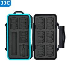 JJC pudełko na karty pamięci aparatu wodoodporny futerał na SD/Micro SD/TF/Micro SIM/Nano SIM karta pamięci SD pudełko z organizatorem