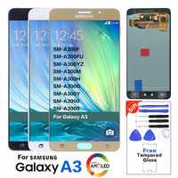 Super AMOLED LCD para SAMSUNG Galaxy A3 2015 pantalla A300 A300H A300F A300FU pantalla táctil digitalizador pequeña sombra de quemadura