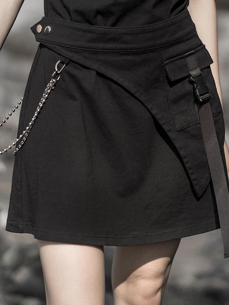 Punk Rave Women's Goth Triangular Metal Chain Waist Belt PS-143YD